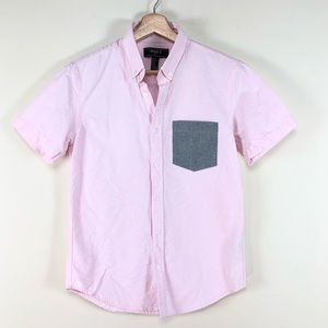 3/$25 Forever 21 Button Down Shirt Short Sleeve